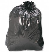 "Medium Duty Black Refuse Sacks18 x 29 x 39""160 Gauge"