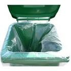 "Clear Wheelie Bin Liners30"" x 46"" x 53""Case 100"
