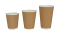 Ripple Coffee Cups8oz, 12oz and 16ozBlack & Kraft