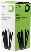 Black Bendy Straws8""